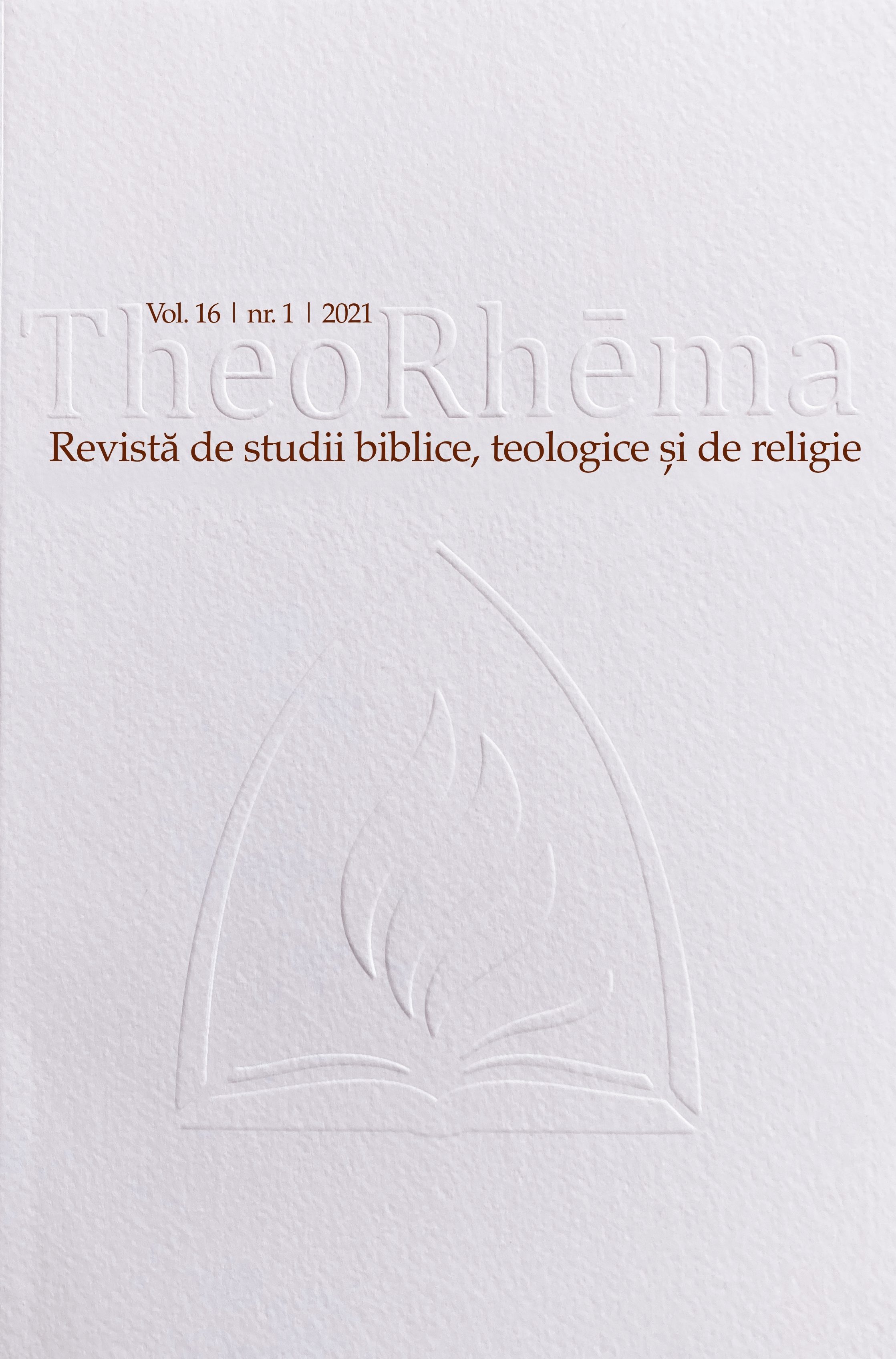 View Vol. 16 No. 1 (2021): TheoRhēma